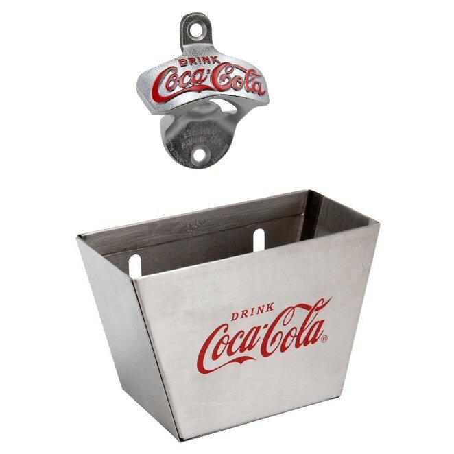 COCA COLA BELT BUCKLE WITH BOTTLE OPENER CHROME FINISH LICENSED NEW!