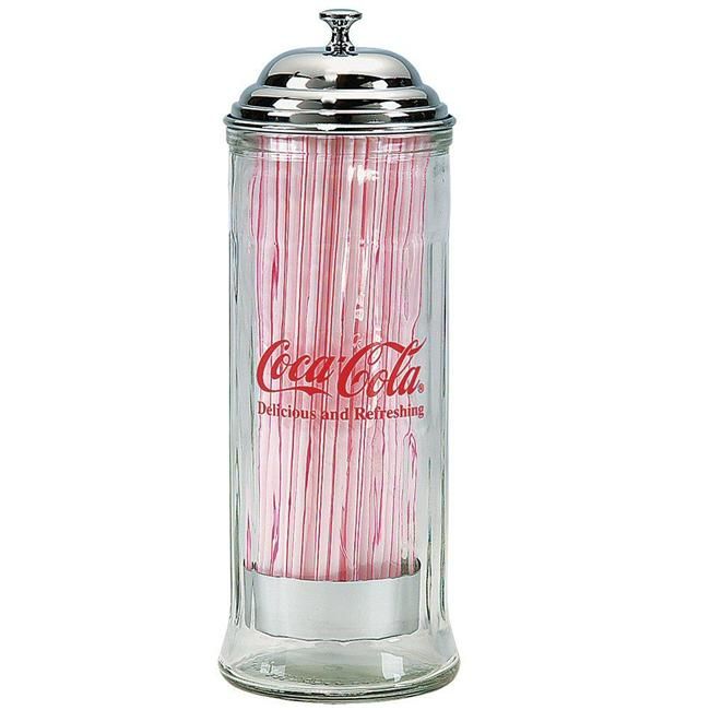 Old Fashioned Metal Straw Dispenser