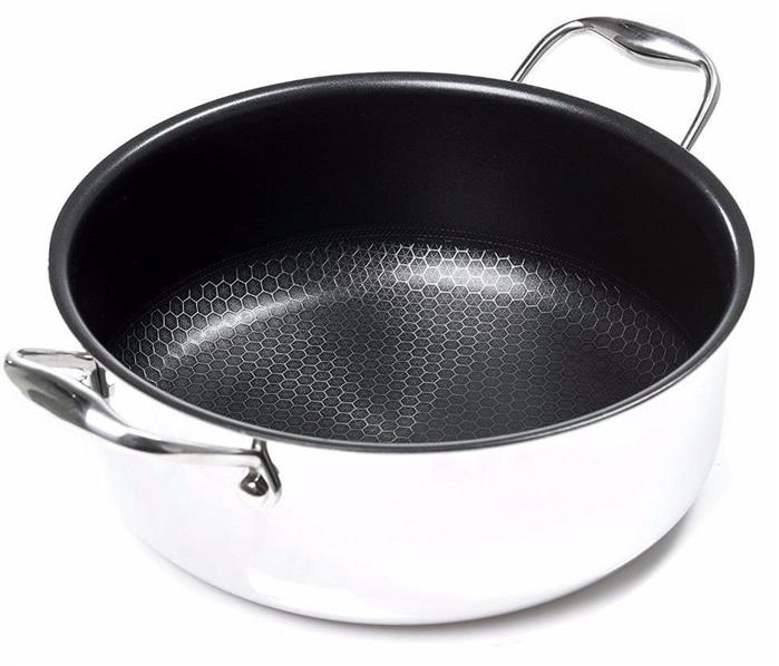 Frieling USA Black Cube Hybrid Stainless//Nonstick Cookware Tempered Glass Lid 11-Inch Diameter BC928