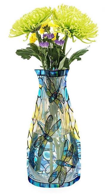 Modgy Myvaz Collapsible Expandable Flower Vase Tiffany Dragonfly