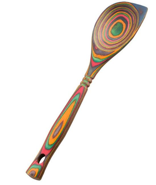 Island Bamboo 12 Quot Rainbow Pakkawood Wooden Corner Spoon