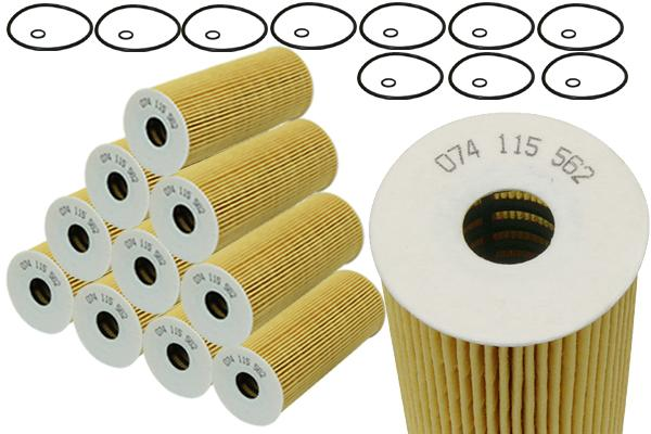 10pcs vw jetta golf beetle tdi oil filters oe 074115562 ebay. Black Bedroom Furniture Sets. Home Design Ideas