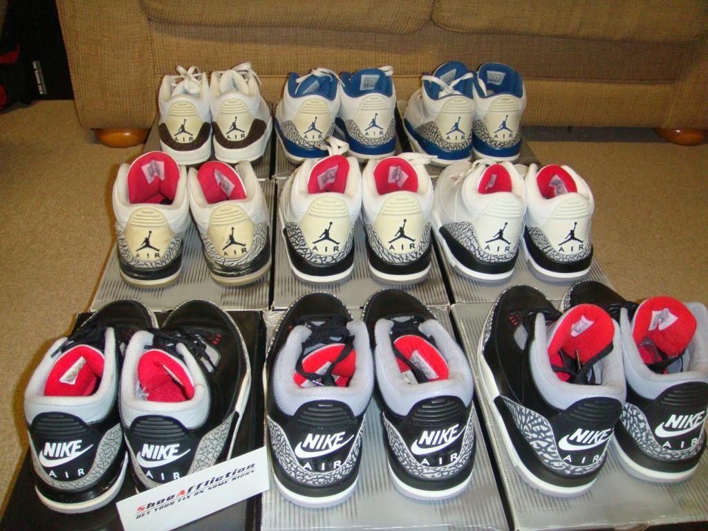 5df748b5667 GZA73/ShoeAffliction Air Jordan 3 collection! | NikeTalk