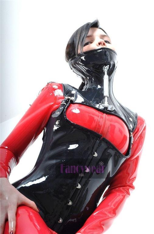 Image is loading Premium-Black-Latex-Rubber-Steel-Boned-Waist-Corset- 626cdb6c8