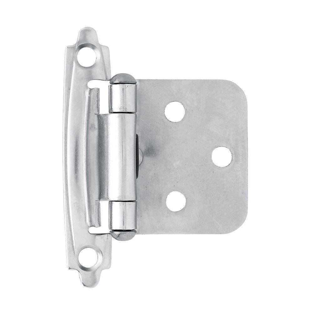 flush mount cabinet hinges chrome self closing overlay flush mount cabinet hinge 15536