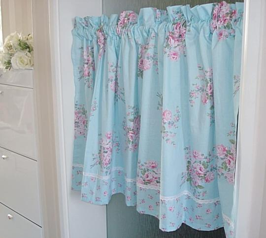 French Country Kitchen Curtains: French Country Blue Floral Cafe Kitchen Curtain Tier Q