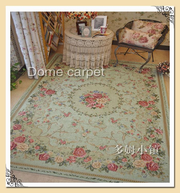 French Country Traditional Classic Chinese Floral Green
