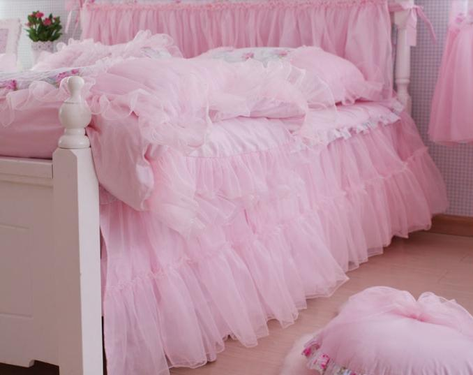 King Queen Full Twin Princess Shabby Floral Chic Pink