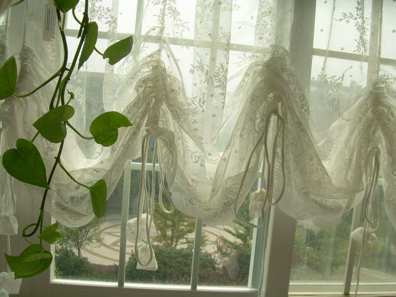 French Country Lace Austrian Balloon Shade Sheer Voile