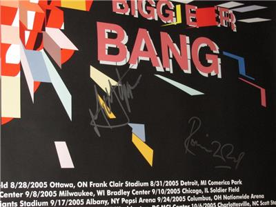 The Rolling Stones Hand Signed Official Quot A Bigger Bang