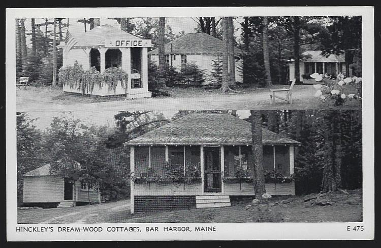 HINCKLEY'S DREAM-WOOD COTTAGES, BAR HARBOR, MAINE, Postcard