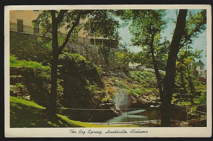 BIG SPRING, HUNTSVILLE, ALABAMA, Postcard