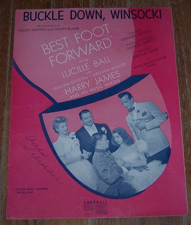 BUCKLE DOWN, WINSOCKI, Sheet Music