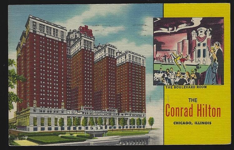 CONRAD HILTON, CHICAGO, ILLINOIS, Postcard