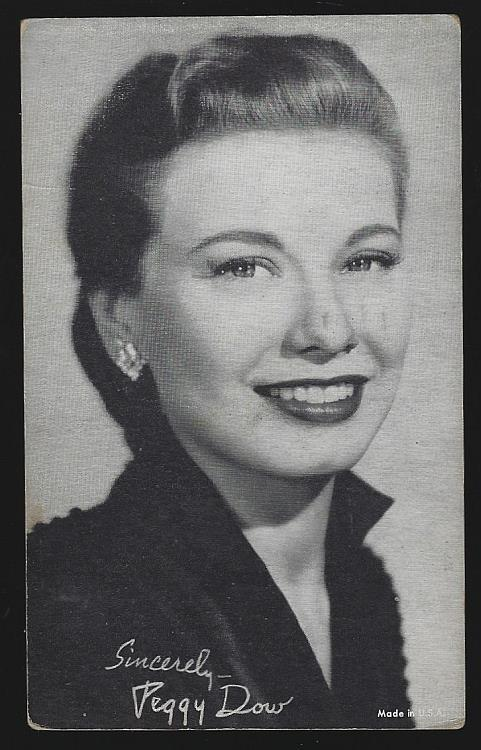 ARCADE CARD OF PEGGY DOW, Arcade Card