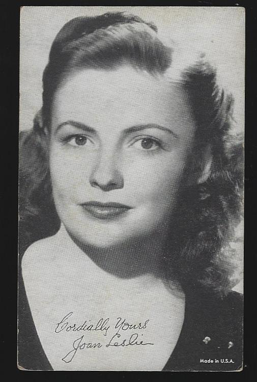 ARCADE CARD OF JOAN LESLIE, Arcade Card