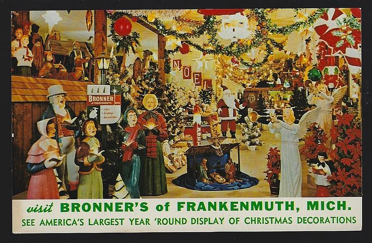 BRONNER'S, FRANKENMUTH, MICHIGAN, Postcard