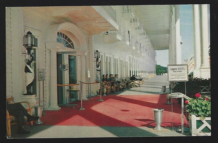 GRAND HOTEL PORCH, MACKINAC ISLAND, MICHIGAN, Postcard