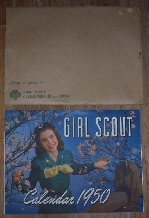 GIRL SCOUT 1950 CALENDAR, Girl Scouts Of The U S A