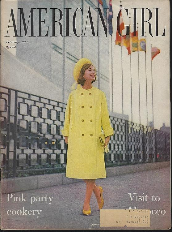 AMERICAN GIRL MAGAZINE FEBRUARY 1961, Girl Scouts Of The U S A