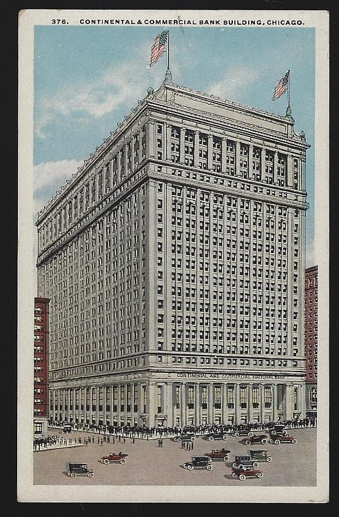 CONTINENTAL AND COMMERCIAL BANK BUILDING, CHICAGO, ILLINOIS, Postcard