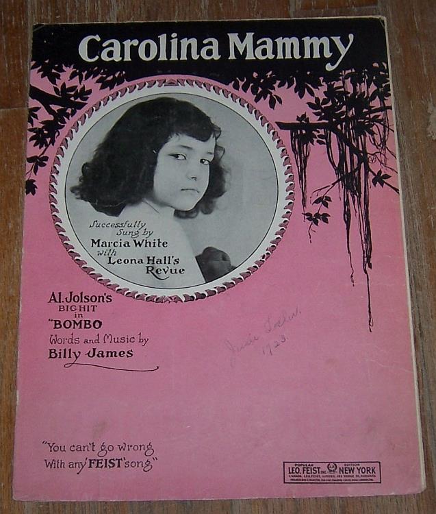 CAROLINA MAMMY, Sheet Music