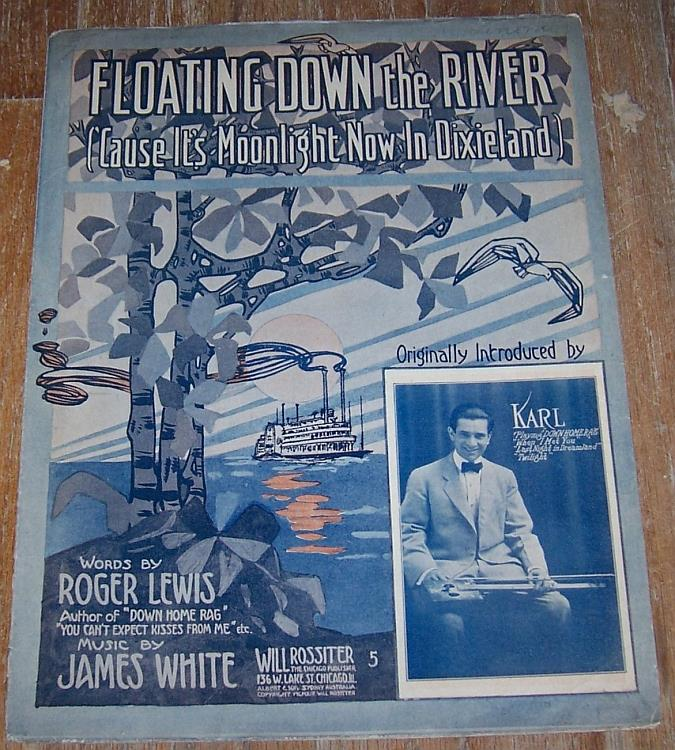 FLOATING DOWN THE RIVER ('CAUSE IT'S MOONLIGHT NOW IN DIXIELAND), Sheet Music