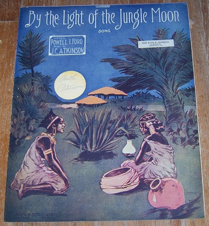 BY THE LIGHT OF THE JUNGLE MOON SONG, Sheet Music