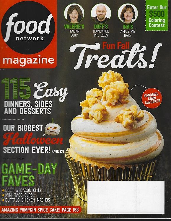 FOOD NETWORK MAGAZINE OCTOBER 2017, Food Network