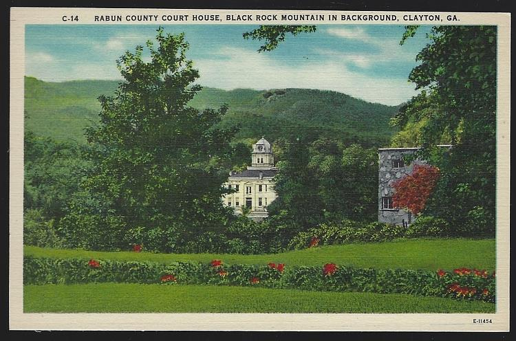 RABUN COUNTY COURT HOUSE, CLAYTON, GEORGIA, Postcard
