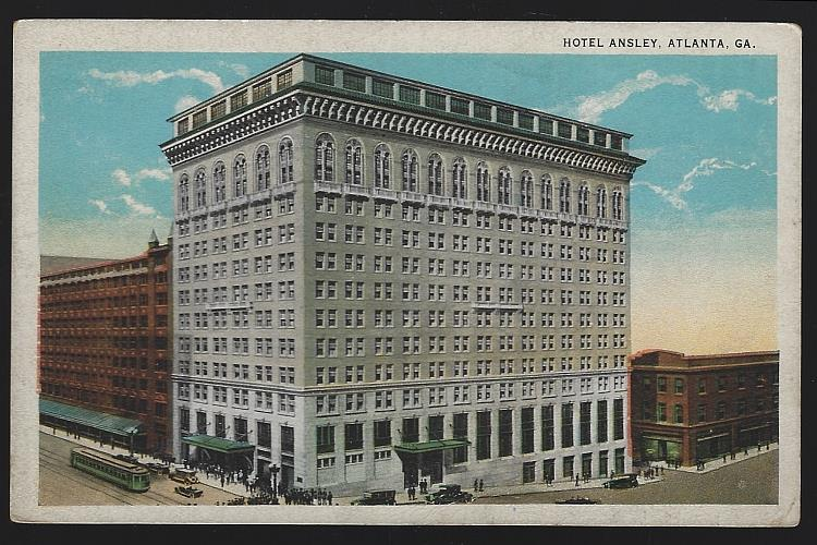 HOTEL ANSLEY, ATLANTA, GEORGIA, Postcard