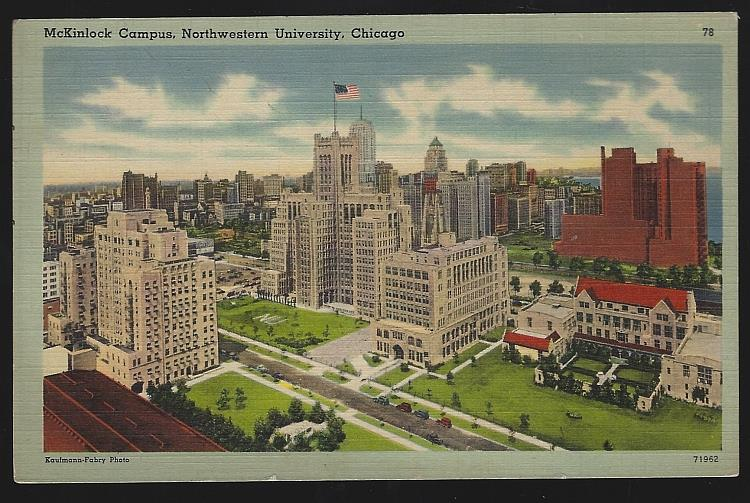 MCKINLOCK CAMPUS, NORTHWESTERN UNIVERSITY, CHICAGO, ILLINOIS, Postcard