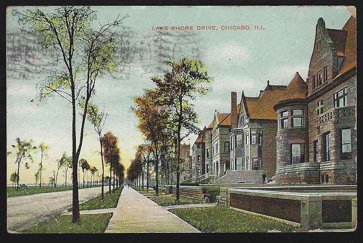 LAKE SHORE DRIVE, CHICAGO, ILLINOIS, Postcard