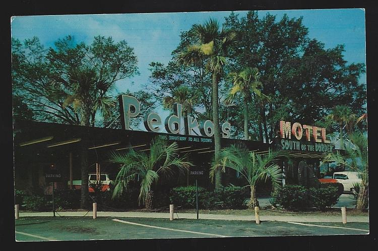 PEDRO'S RESTAURANT, MOTEL, GIFT SHOP, SERVICE STATION, DILLON, SOUTH CAROLINA, Postcard
