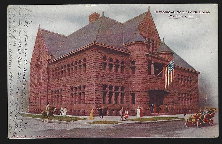 UNDIVIDED POSTCARD OF HISTORICAL SOCIETY BUILDING, CHICAGO, ILLINOIS, Postcard