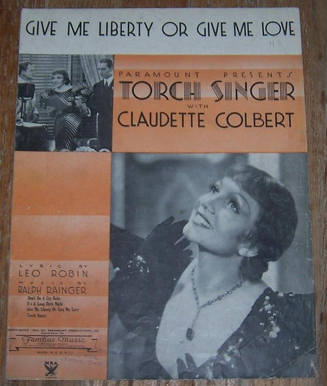 GIVE ME LIBERTY OR GIVE ME LOVE, Sheet Music