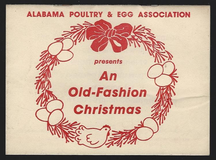 ALABAMA POULTRY AND EGG ASSOCIATION - An Old-Fashion Christmas