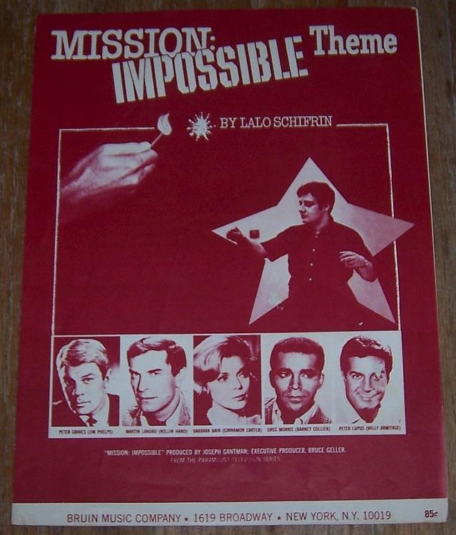 MISSION: IMPOSSIBLE THEME, Sheet Music