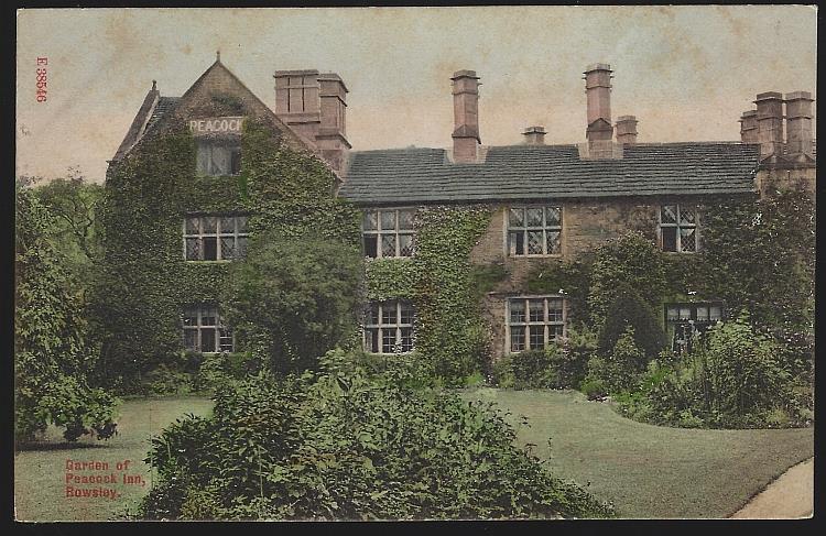 GARDEN OF THE PEACOCK INN, ROWSLEY, ENGLAND, Postcard
