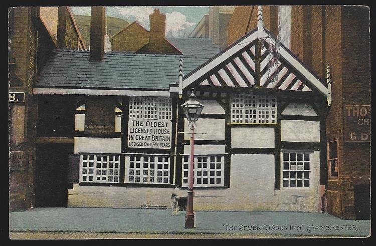 SEVEN STARRS INN, MANCHESTER, ENGLAND, Postcard