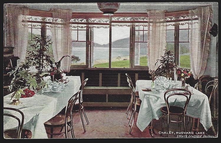CHALET, RUDYARD LAKE, NORTH SHEFFIELD RAILWAY, ENGLAND, Postcard