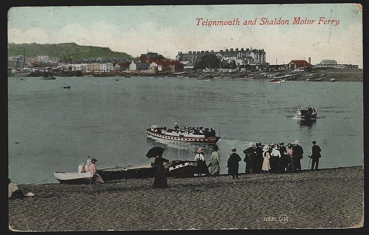 TEIGNMOUTH AND SHALDON MOTOR FERRY, ENGLAND, Postcard