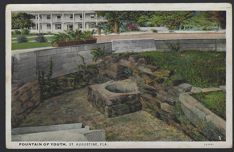 FOUNTAIN OF YOUTH, ST. AUGUSTINE, FLORIDA, Postcard