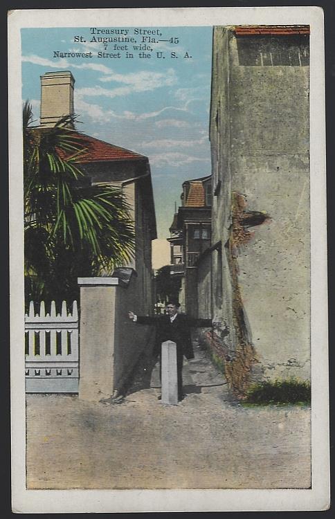 TREASURY STREET, ST. AUGUSTINE, FLORIDA, Postcard