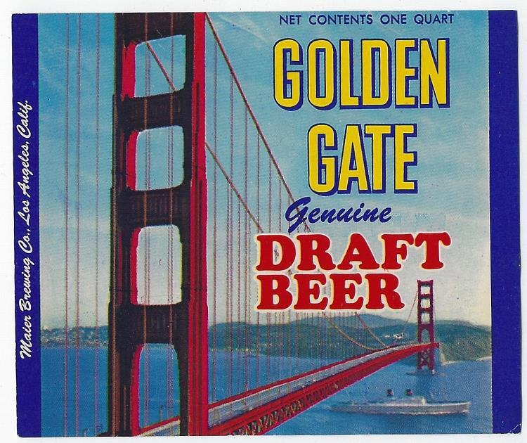 GOLDEN GATE DRAFT BEER LABEL, Advertisement