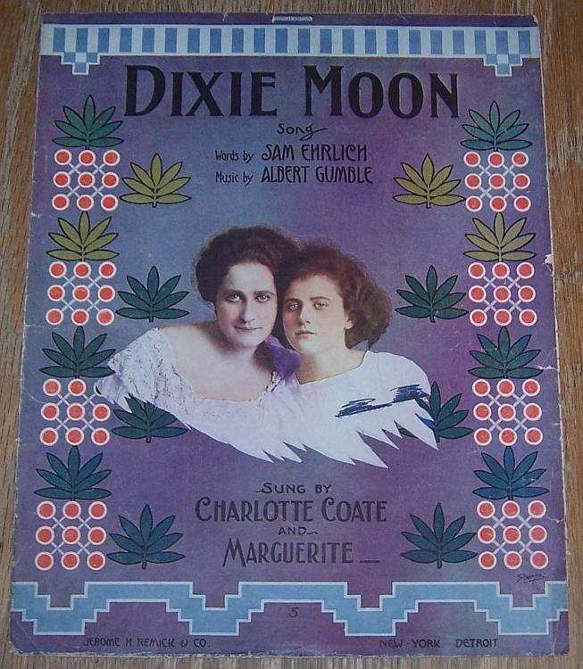 DIXIE MOON, Sheet Music