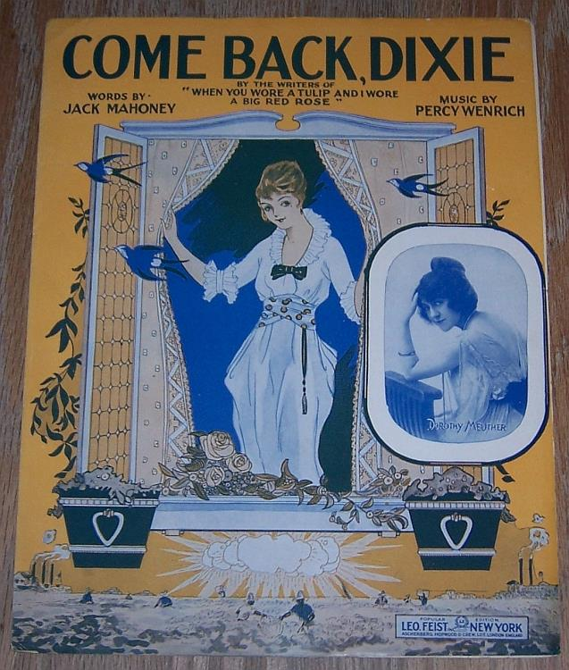 COME BACK DIXIE, Sheet Music