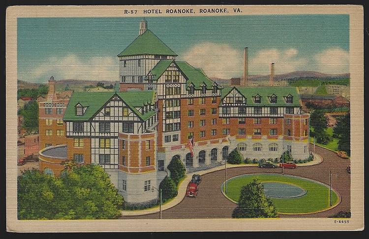 HOTEL ROANOKE, ROANOKE, VIRGINIA, Postcard