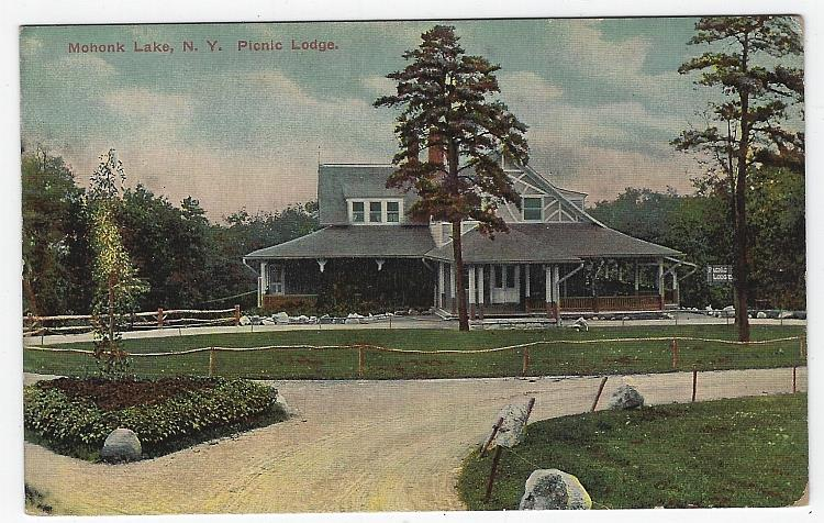 PICNIC LODGE, MOHONK LAKE, NEW YORK, Postcard