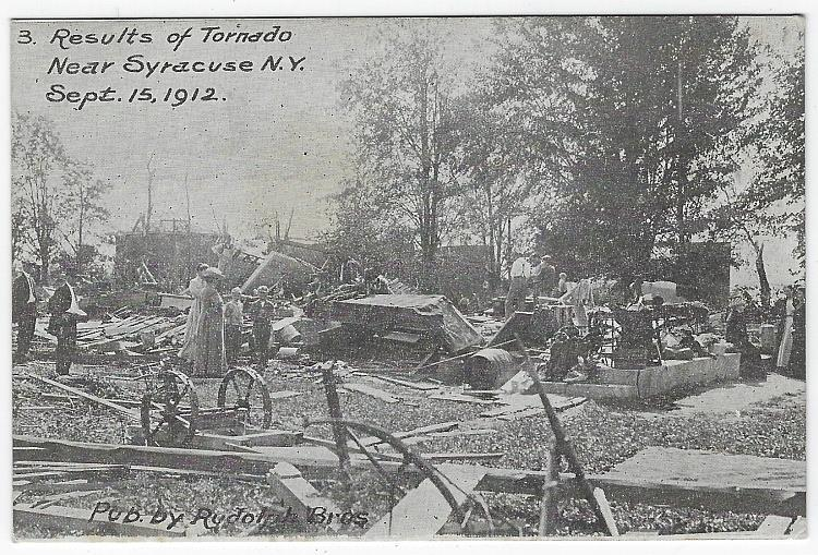 RESULTS OF TORNADO NEAR SYRACUSE, NEW YORK, SEPTEMBER 15, 1912, Postcard
